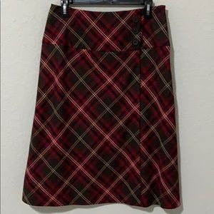 EAST 5th PLAID SKIRT RED/BROWN
